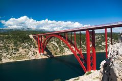 Bridge in Maslenica Royalty Free Stock Image