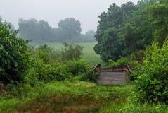 Bridge in Meadow Stock Photo