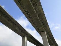 Bridge. Mediterranean high freeway bridge in Andalusia, Spain, Europe Royalty Free Stock Photos