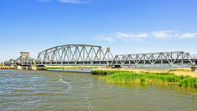 Bridge Meiningen in between Zingst and Bresewitz, Mecklenburg-Western Pomerania, Germany.  Royalty Free Stock Images