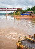 The bridge Mekong river Chai Buri Laos Stock Photo