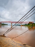 The bridge Mekong river Chai Buri Laos Stock Image