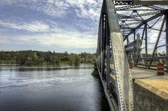 Bridge. Metal Bridge in Hampton New Brunswick Royalty Free Stock Images