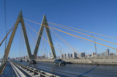 Bridge `Millenium`, Kazan, Russia Royalty Free Stock Photo