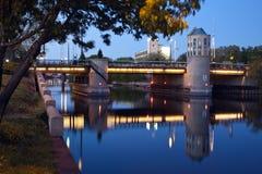 Bridge on Milwaukee River Stock Photos