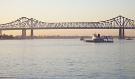 Bridge on Mississippi River Stock Photos