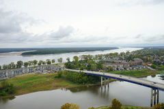 Bridge on Mississippi river Stock Photos
