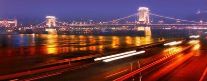 Bridge in the mist Stock Images