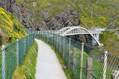Bridge of Mizen Head lighthouse Stock Image