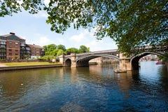 Bridge and modern apartments. On the river, York, UK Stock Photo