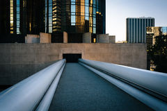 Bridge and modern building in downtown Los Angeles, California. Royalty Free Stock Photo