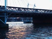 Bridge modern city centre London construction architecture. Travel river city centre art symbol london Stock Photography