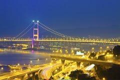 Bridge in modern city Royalty Free Stock Image