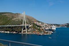 Bridge in the modern port of Dubrovnik Royalty Free Stock Image