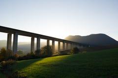 Bridge, modern transport and infrastructure building stock photo