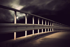 Bridge in moonlight Royalty Free Stock Photo