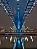 bridge moscow över floden Royaltyfri Bild
