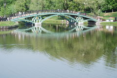 Bridge in Moscow city park Royalty Free Stock Image