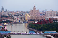 Bridge in Moscow International Business Center Royalty Free Stock Photo