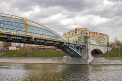 Bridge in Moscow Royalty Free Stock Photos