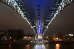 The bridge through Moscow-river Stock Images