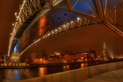 The bridge through Moscow-river-4 Stock Photography