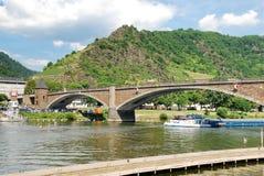 Bridge on Moselle river, Germany Stock Photo