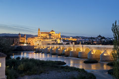 Bridge and Mosque of Cordoba over Guadalquivir river Royalty Free Stock Photo