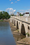 Bridge and Mosque in Turkey Stock Photo