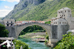 Bridge of Mostar Stock Images
