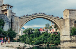 Bridge in Mostar Stock Images