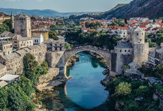 Bridge in Mostar Stock Photography