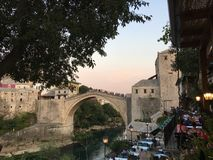 Bridge in Mostar. Bosnia and Herzegovina Royalty Free Stock Images