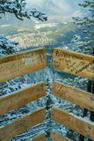 Bridge on the mountain , alberta. Graffiti made by people who marked their beautiful moment in the bridge of the mountain in canada stock images