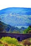 Bridge and mountain Royalty Free Stock Photo