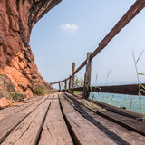 Bridge on Mountain Stock Photo