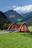 Bridge with mountains Stock Images