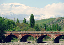 Bridge and Mountains in Azerbaijan Stock Photos