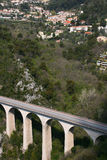Bridge in the mountains in France Royalty Free Stock Image