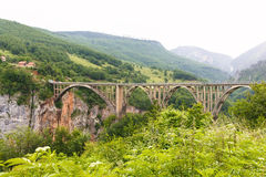 Bridge in mountains near Budva Stock Image