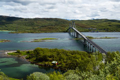Bridge in the mountains in Norway Royalty Free Stock Photography