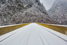 Bridge in the mountains Royalty Free Stock Image