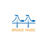 Bridge with music notes vector design. Template Royalty Free Stock Photo