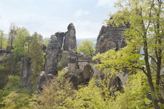 Bridge named Bastei, Germany Royalty Free Stock Photos