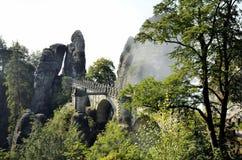 Bridge named Bastei in Saxon Switzerland Germany Stock Images