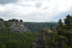 Bridge named Bastei in Saxon Switzerland Royalty Free Stock Photos