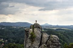 Bridge named Bastei in Saxon Switzerland Royalty Free Stock Images