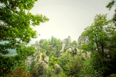 Bridge named Bastei Royalty Free Stock Photos