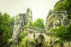 Bridge named Bastei Stock Photos