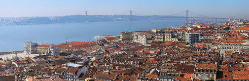 Bridge named after 25th of October in Lisbon stock images
